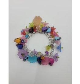 Skull and Flower Bracelet