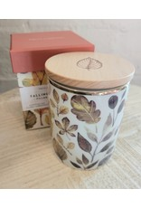 Leaves Candle in Box