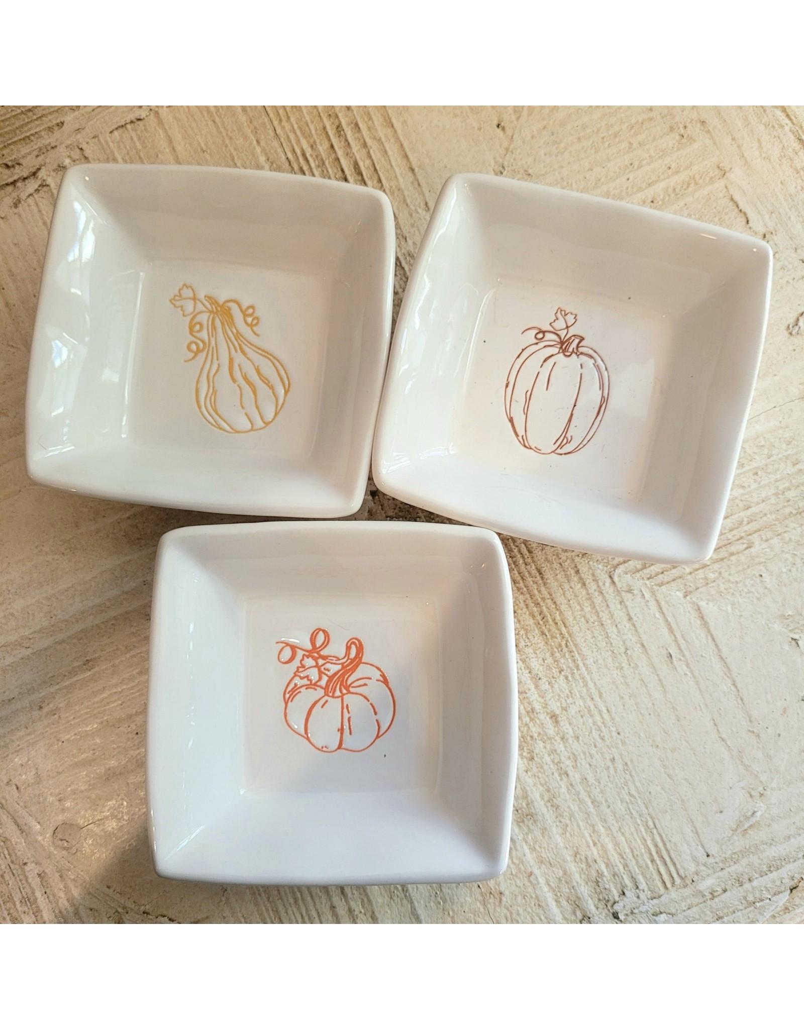 Fall Tidbit Dishes - Set of 3