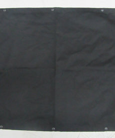 """39""""W x 24""""H Curtain with Snaps Black"""