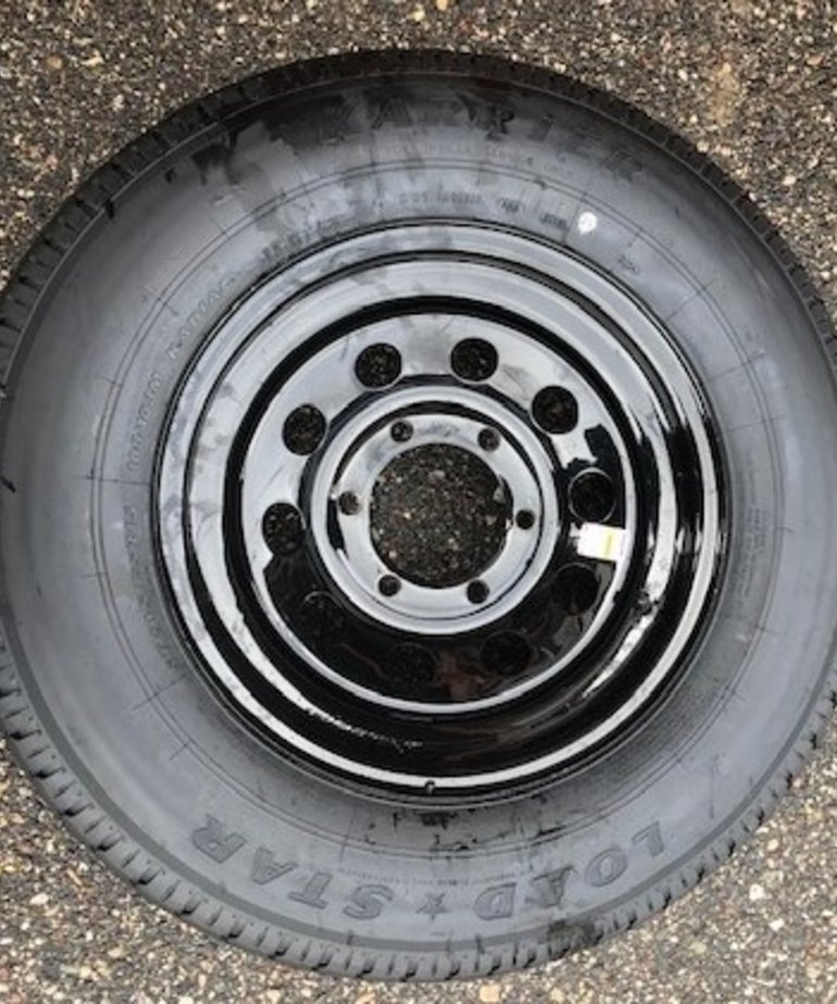 ST205/75R15 D/6H MOD Black Karrier (15X6) Wheel