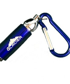 Blue Carabiner with LED Light