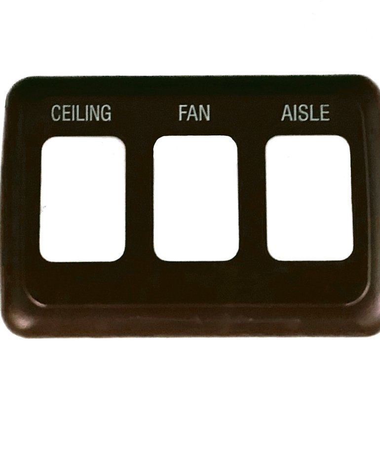 Bezel Triple Switch Cover Brown