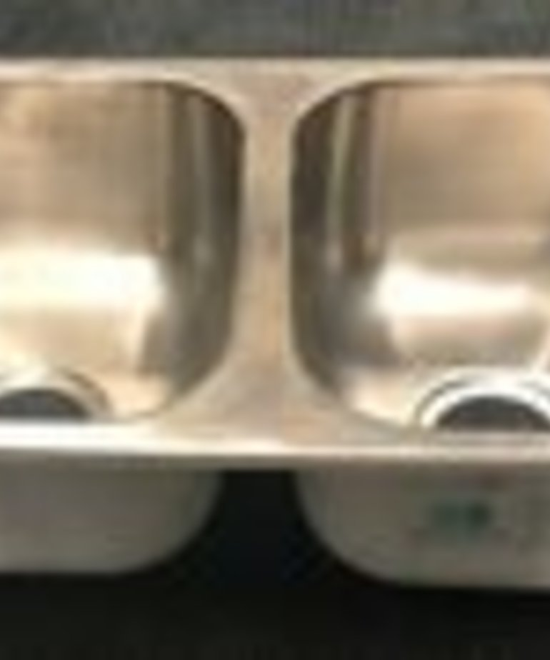 16X27 Stainless Steel Double Sink