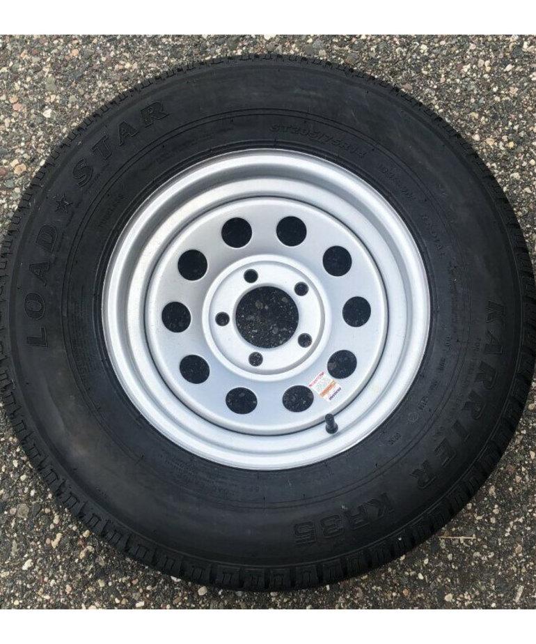 ST205/75R14 C/5H MOD Silver KR (Load Range C) Wheel