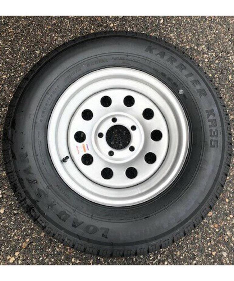 ST205/75R15 C/5H MOD Silver KR35 Kenda (15X5) Wheel