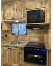 Greystone 17'' Black Oven/Range Combo with Glow Knobs - CF-RV17BB