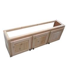 """52"""" Cedar 3 Door Cabinet"""