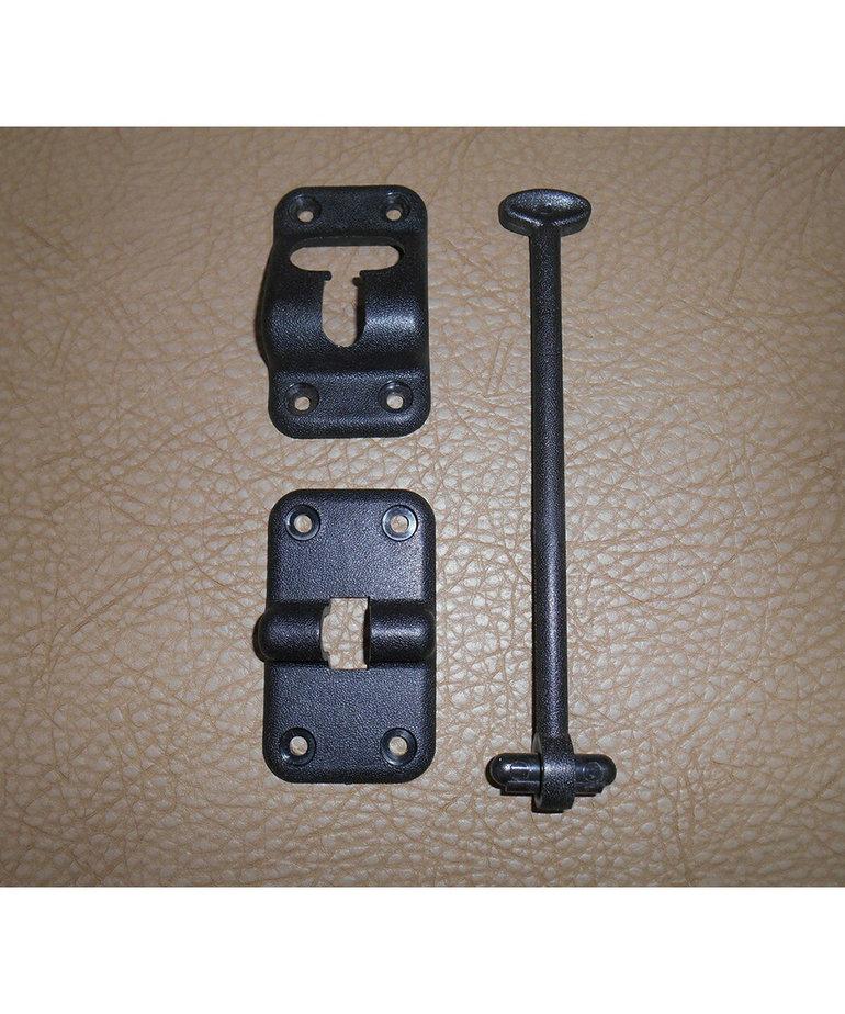 "6"" Black Door Holder Kit"