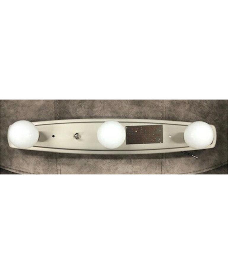 3 Bulb Nickel Vanity Light