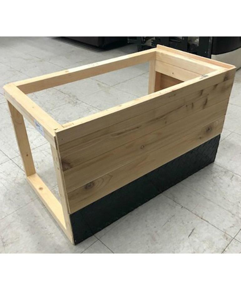 """28""""x16"""" Cedar Bench"""