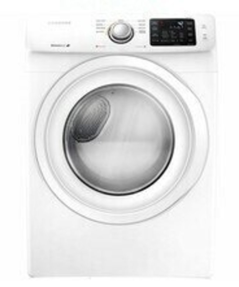 Samsung - White - 7.5 cu.ft. 9-Cycle Gas Dryer