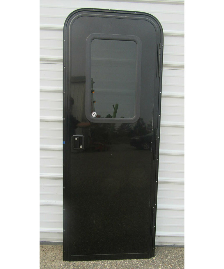 26X72 Black Entry Door RH