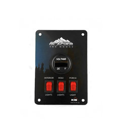 Digital Voltage Meter with 3 Light Switches