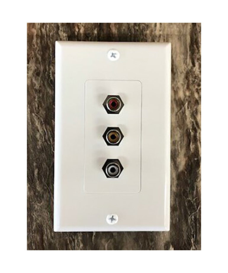 RCA Wall Plate, Red/Yellow/White