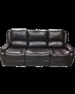 "FN Jaleco Chocolate 86"" Three-Piece Reclining Sofa"
