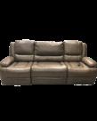 "Volant Mink 90"" Three-Piece Recliner w/ eMoMo Multi-position Massage, USB, and Flip-d"