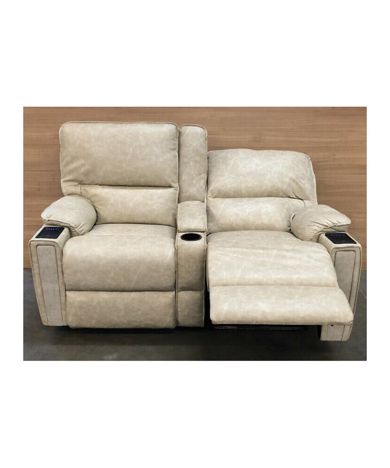 """Vertual Linen 65"""" Theater Seating with Power, Massage & Heat"""