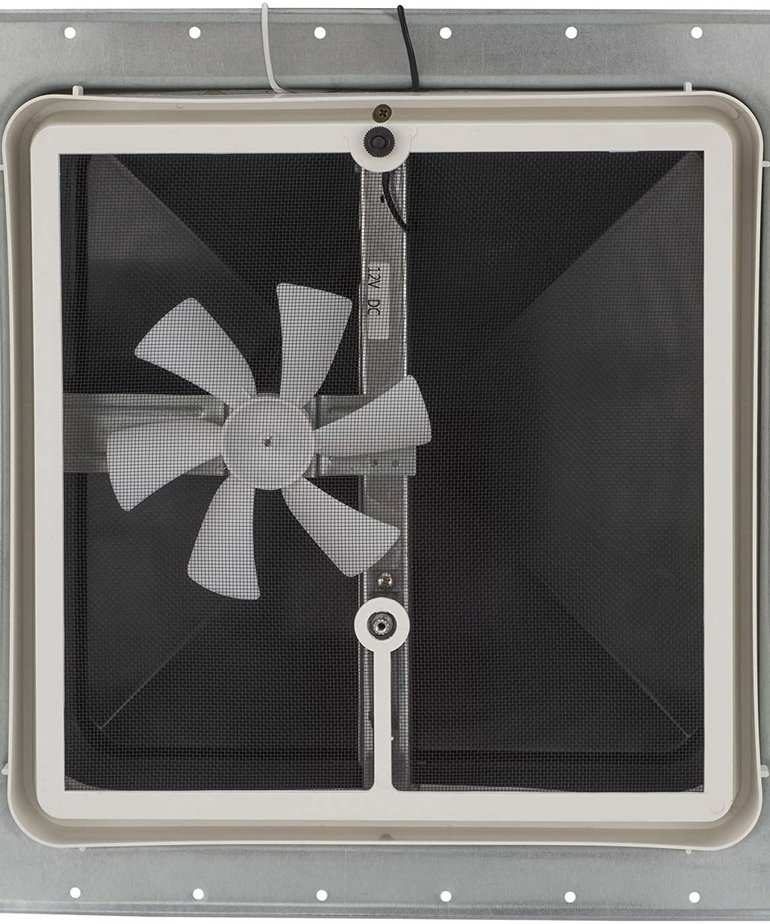 """14"""" Roof Vent Smoke Color with 12V Fan"""