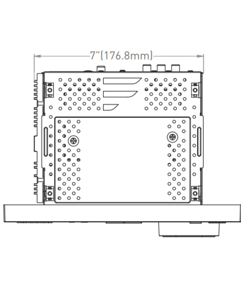 Furrion RV Stereo - Double DIN - HDMI, AUX/USB, Bluetooth - 3 Zone - 12V DB1230-BL