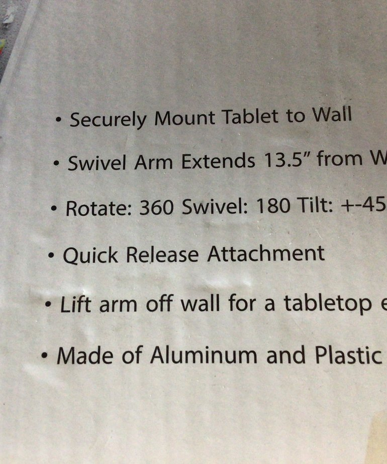 Universal Tablet Wall mount T-203