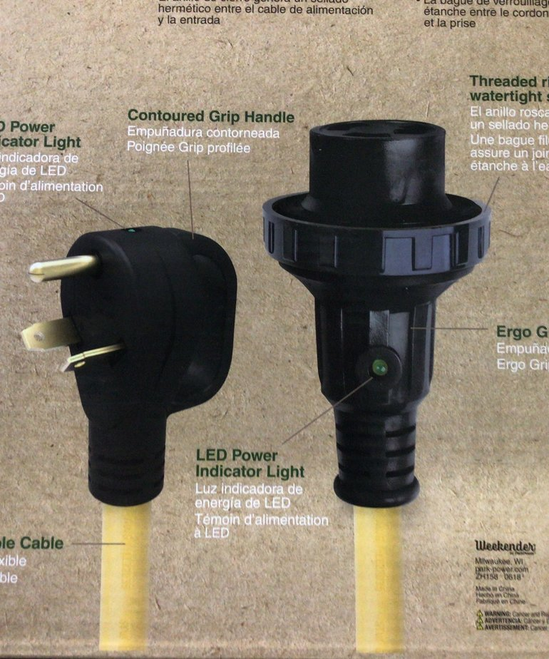 30A Power Cord 25' with Handle