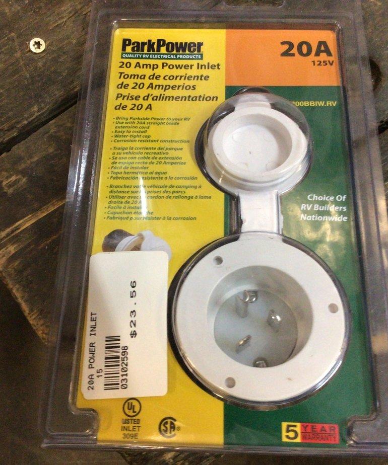 White 20Amp Power Inlet