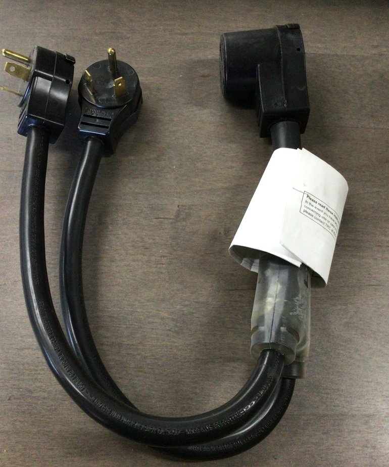 50Amp F to Two 30Amp M Power plug