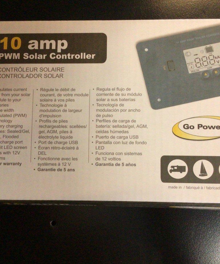Go Power! 10 AMP Solar Controller