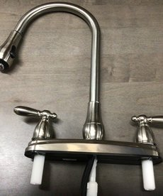Kitchen Faucet with Spray Head Brushed Nickel finish