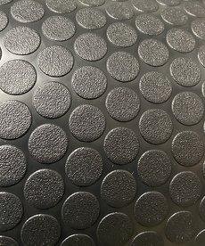 "Black Rubber Coin Flooring 8'6"""