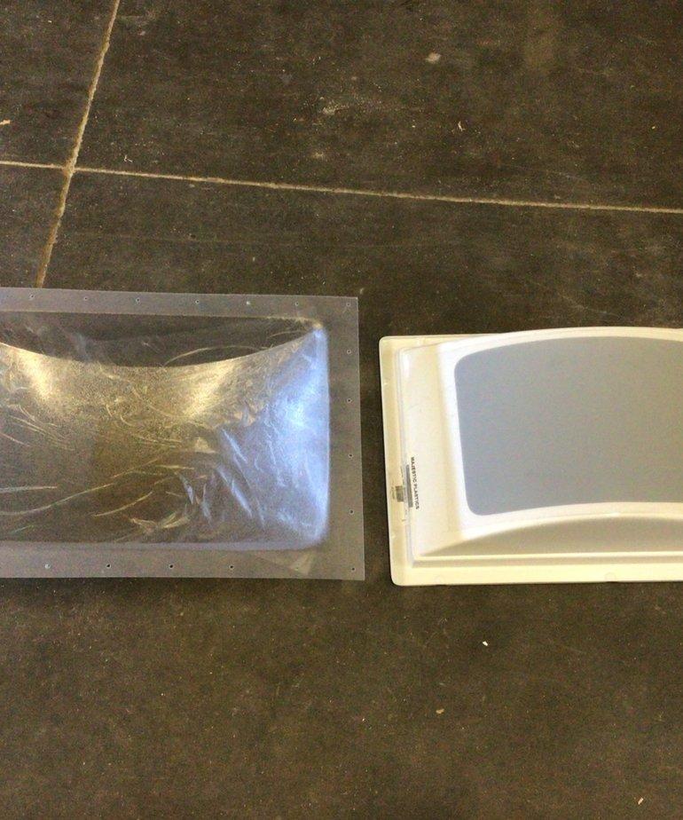 "14""x22"" Skylight Kit Cracked Ice finish"
