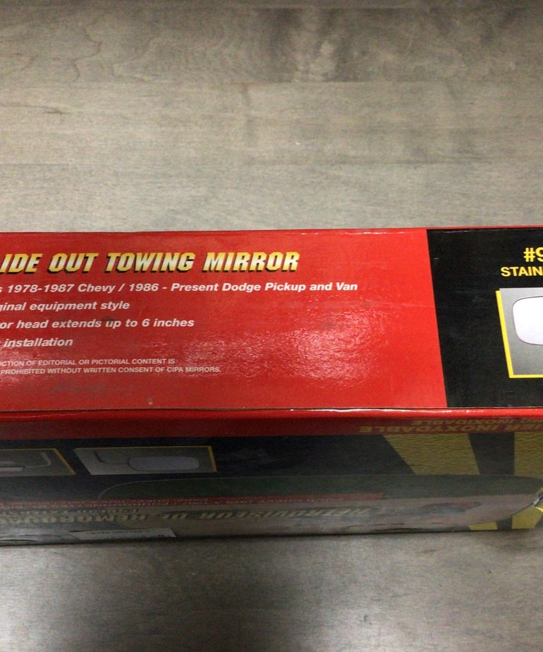 Slide out tow mirror 78-87Chevy, 86+Dodge