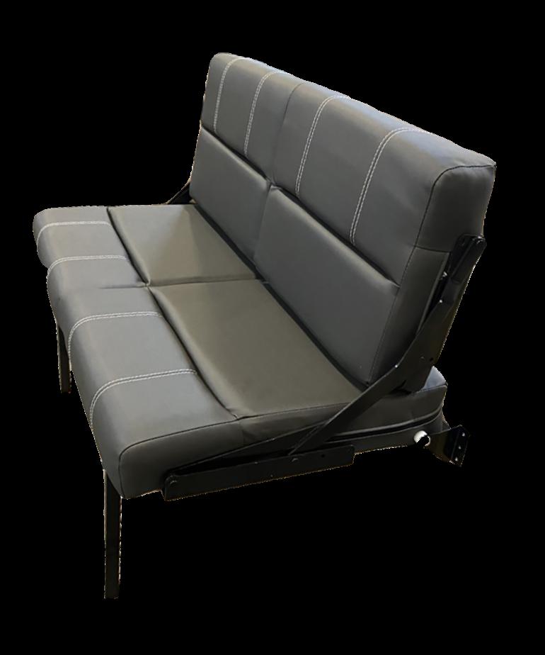 "46"" Black Wall Mounted Rollover Sofa"