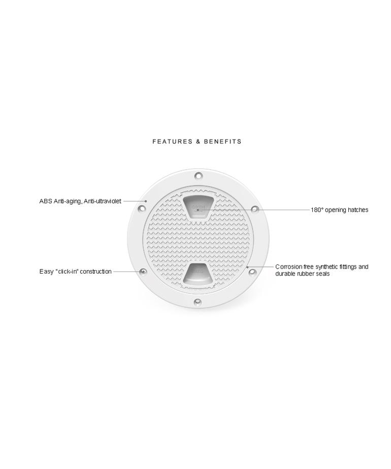 "4"" Circular Access Hatch SFRH1-004-01"