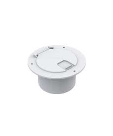"""3.5""""Circular White cable hatch SFCH1-052-03"""