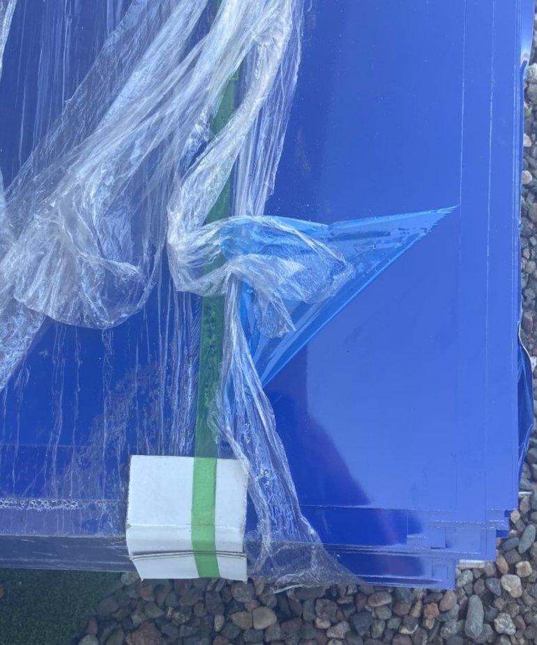 "IN STOCK  Blue .024"" 48""x96"" Aluminum Siding"