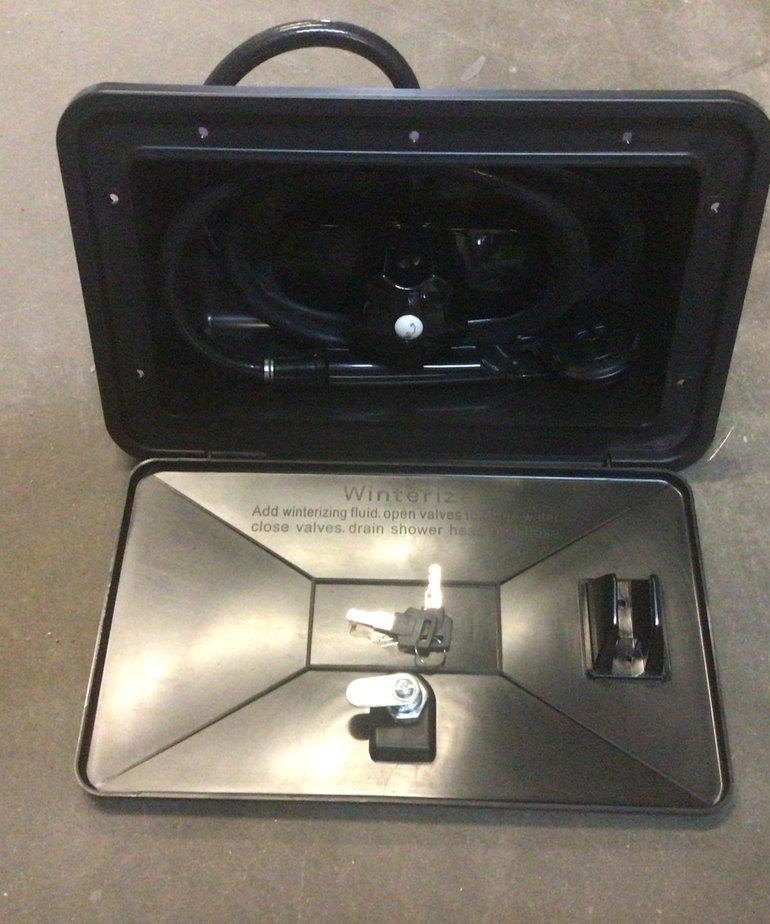 RV Exterior Shower Box Kit Black SHWRBOX-1-BLK