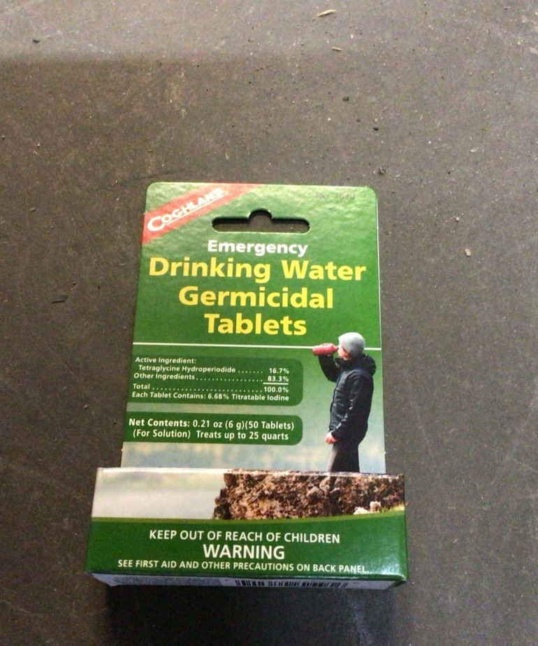 Emergency Drinking Water Germicidal Tablets 7620