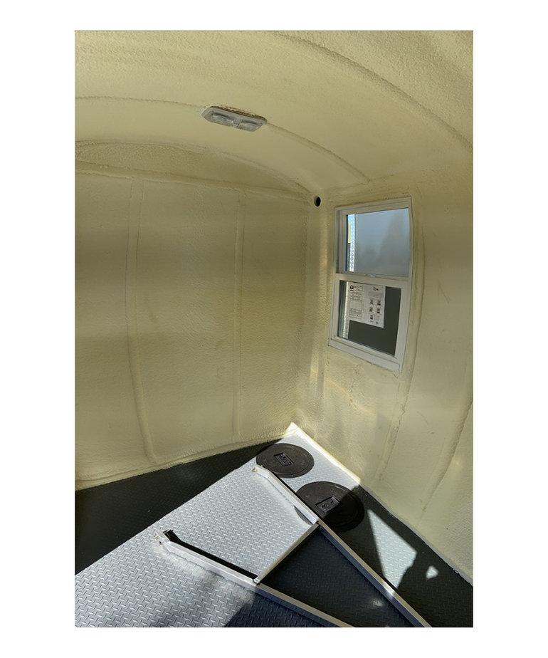 6X8 Aluma Lite Skid House Charcoal