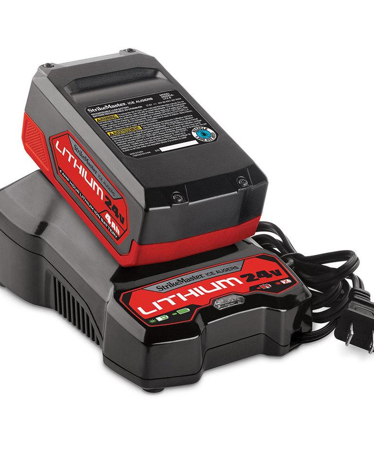 """StrikeMaster 8"""" Lithium 24V Auger w/Lite-Flite Lazer Drill Unit"""