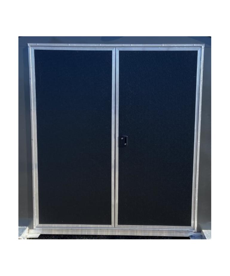 Toy Hauler Exterior Black Double Door