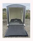 6.5X10 Aluma Lite V Nose Ramp Door Charcoal