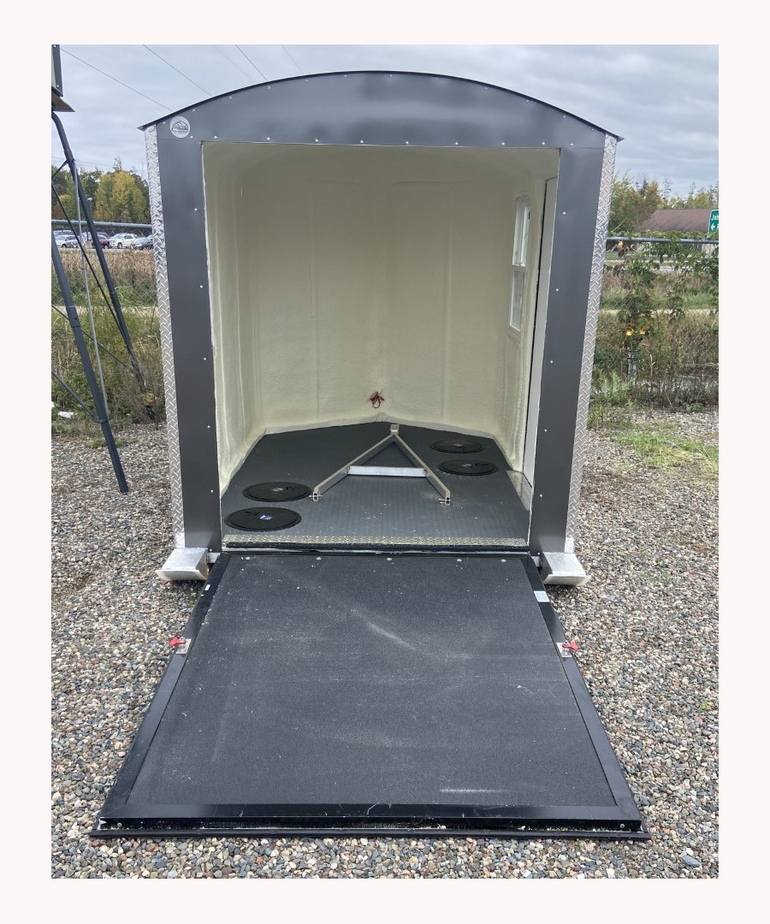 6.5x8 Aluma Lite V Nose Ramp Door Charcoal