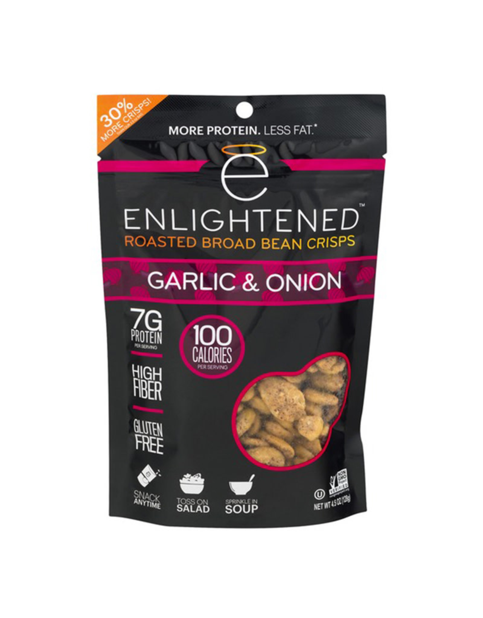 Enlightened Enlightened - Roasted Broad Bean Crisps, Garlic & Onion