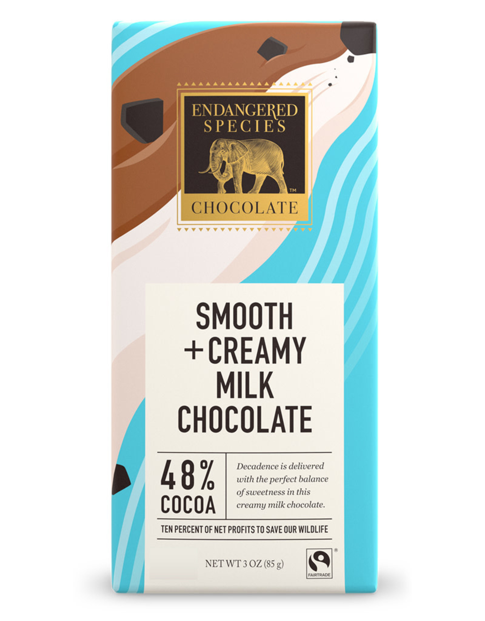 Endangered Species Endangered Species - Milk Chocolate Bar, (Sea Otter) Natural Milk Chocolate