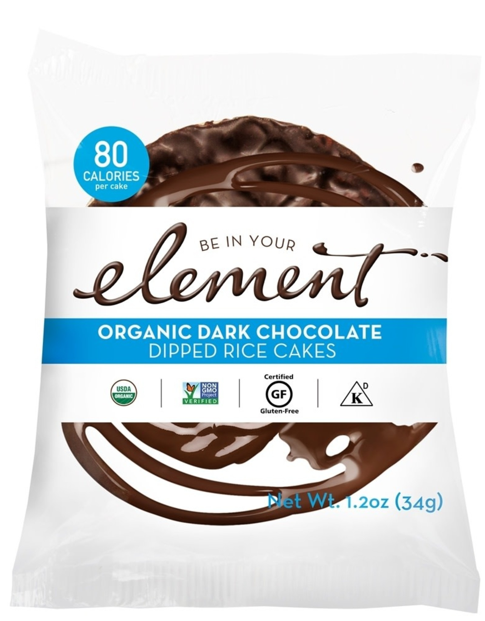 Element Element - Dipped Rice Cakes, Dark Chocolate (34g)