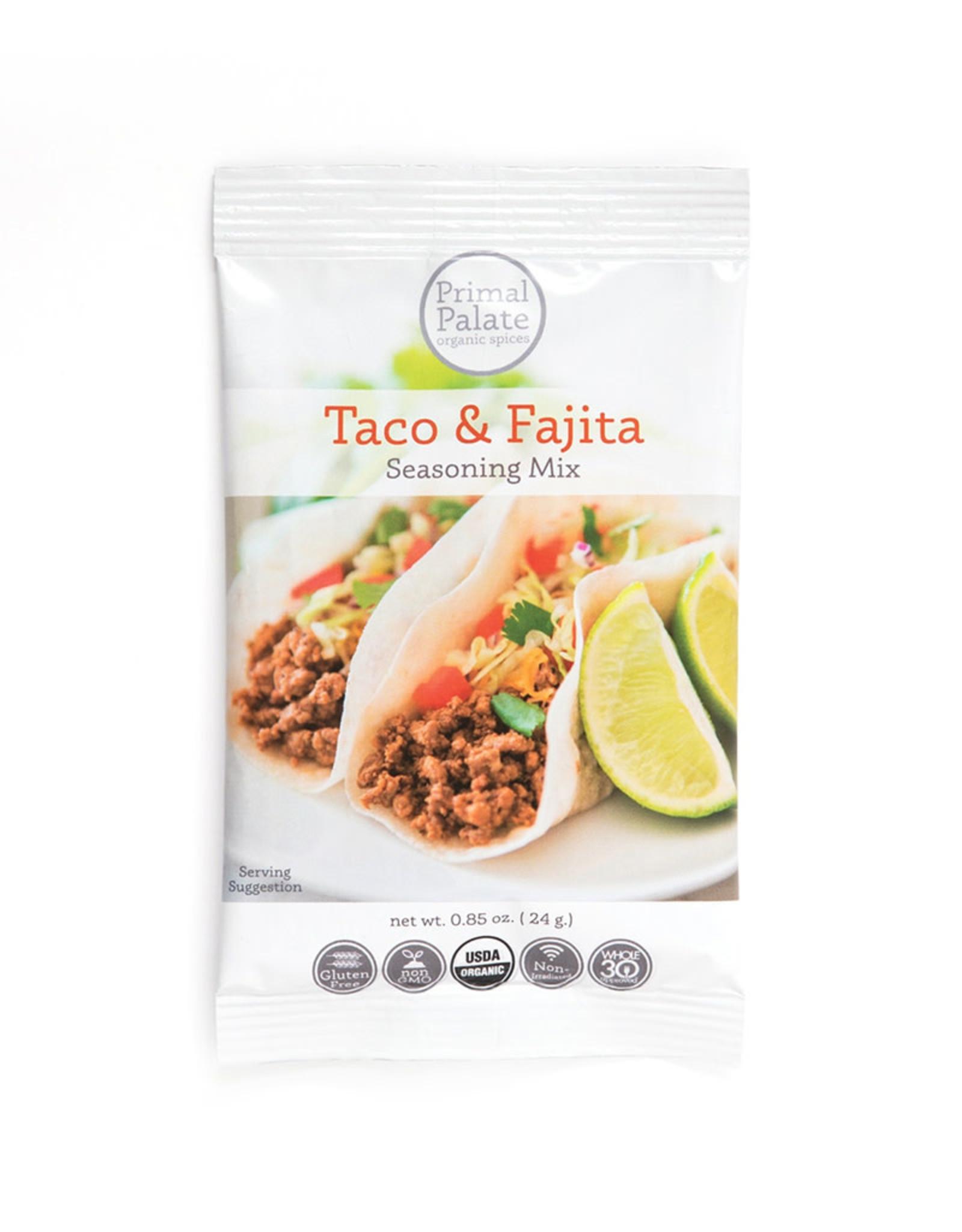Primal Palate Primal Palate - Seasoning Mix, Taco & Fajita (24g)