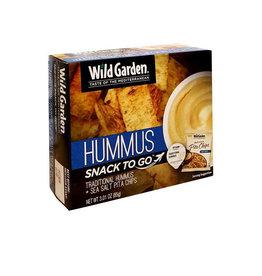 Wild Garden Wild Garden - Snack Box, Traditional Hummus & Sea Salt Pita Chips