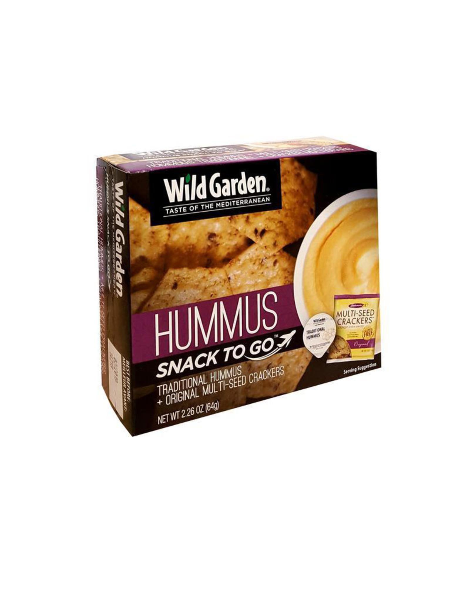 Wild Garden Wild Garden - Snack Box, Traditional Hummus & Original Multi-Seed Crackers
